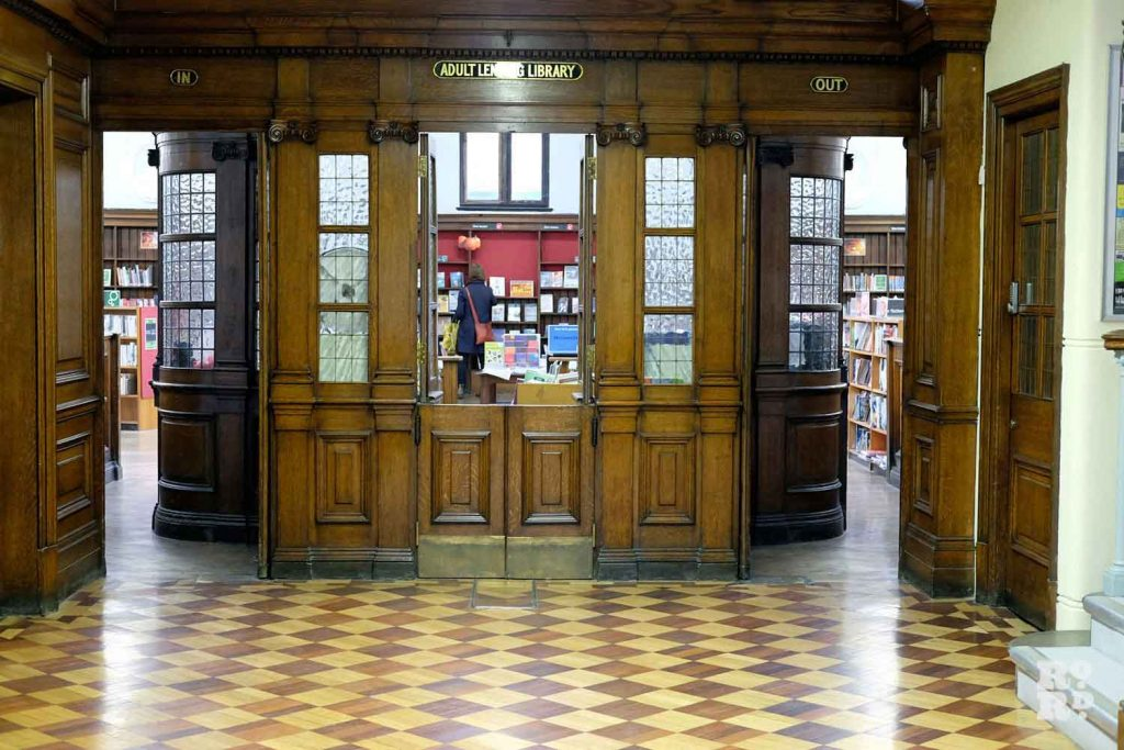 Entrance, Bethnal Green Library, East London