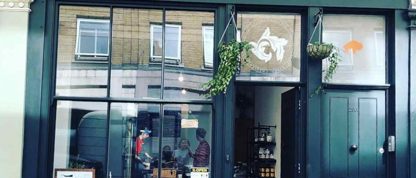 The outside of vegan cheese shop La Fauxmagerie on Cheshire Street
