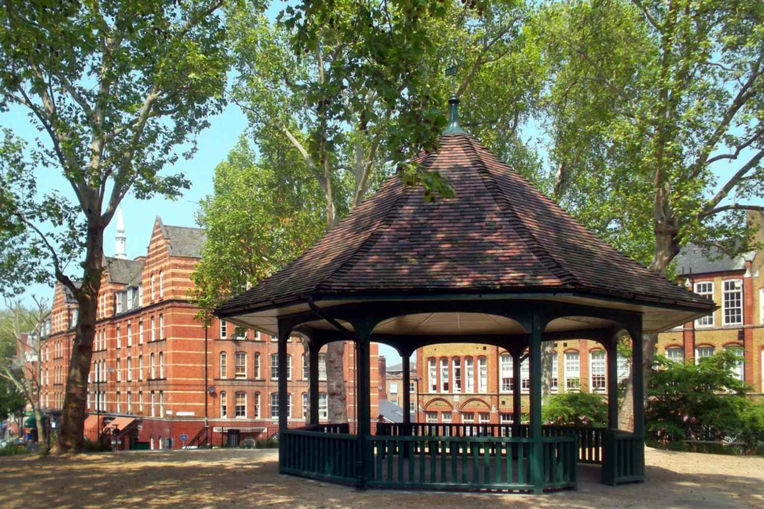 The bandstand in Arnold Circus in the Boundary Estate