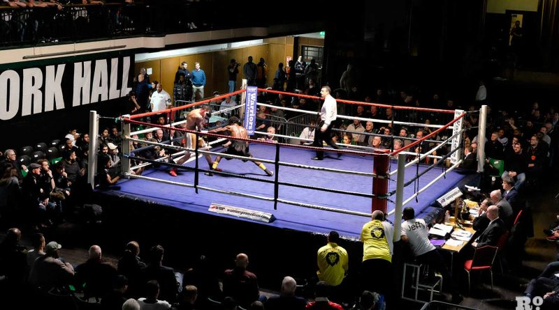 Two boxers competing at York Hall