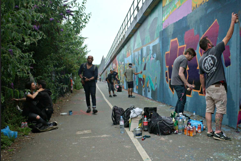 Graffiti artists near Shoreditch