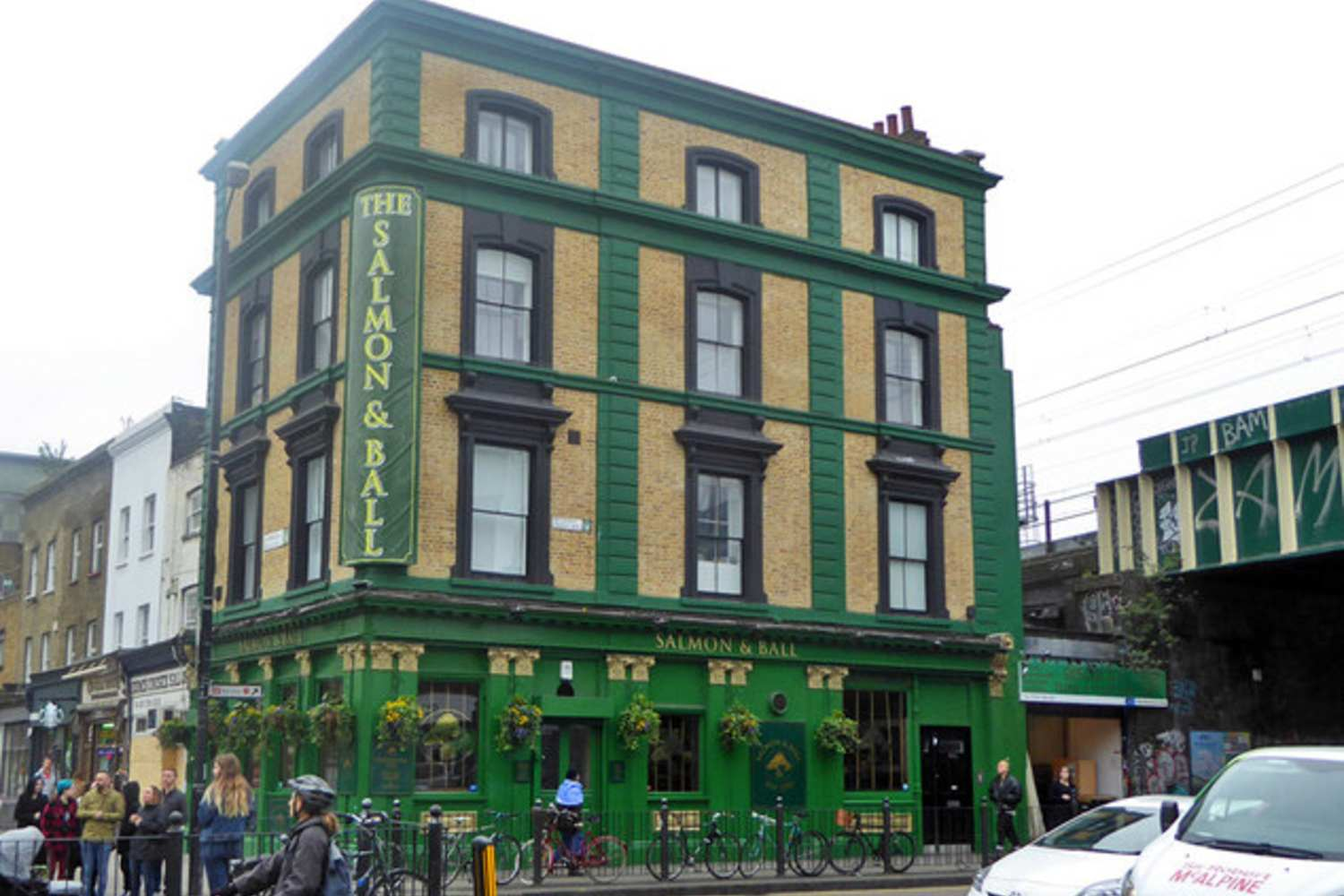The Salmon and Ball, pub in Bethnal Green on the junction of Cambridge Heath and Bethnal Green Road