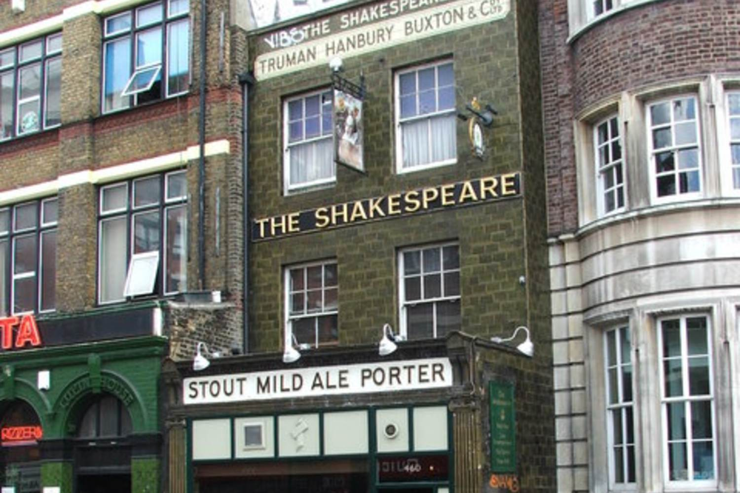 The facade of The Shakespeare, a Bethnal Green pub
